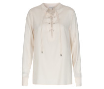 Lace-up Seidenbluse July Offwhite Ivory