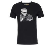 Baumwoll-Shirt mit Steve McQueen Print Black