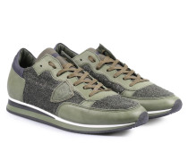 Sneakers Tropez im Bouclé Material-Mix Vert