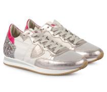 Sneakers Tropez Low Glitter Weiß/Silber