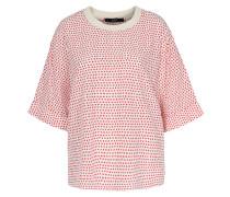 Shirtbluse Mit Sternenprint Creme/rot
