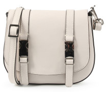 Mini-Saddle-Bag mit Kontrast-Riemen Nude
