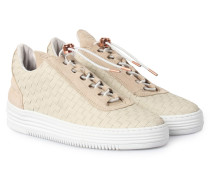 Sneakers Low Top All Woven Twist Beige