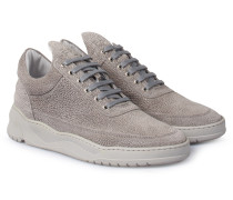 Verloursleder Sneakers Low Top Astro Grey