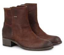 Veloursleder-boots Dark Brown