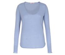 Cashmere Pullover Mit Rundhalsausschnitt Rauchblau