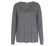 Pullover Im Woll-viskose-mix Gris Chine