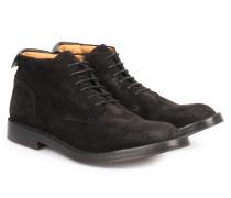 Veloursleder Schnür-Boots Idea Nero