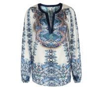 Seiden-stretch-bluse Amalie Mit Print Cameron Blue