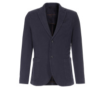 Jersey-Blazer mit Leistentasche Blu Notte