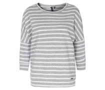 Baumwoll-sweater Hellgrau/weiß