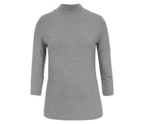 Langarmshirt aus Modal-Stretch mit Turtleneck Grey Melange