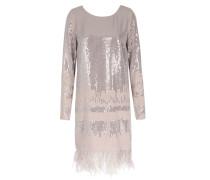 Kleid Mit Pailletten- Und Straußenfedern-besatz