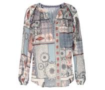 Stretch-Seiden-Bluse Norton Tunic mit Ethno-Muster