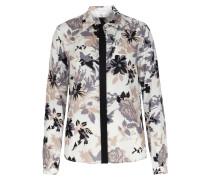 Viskose-seiden-mix Bluse Mit Floralem Print