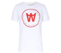 Baumwoll T-shirt Seal Mit Logo-print Weiß
