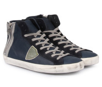 High-top Sneakers Blue Sage