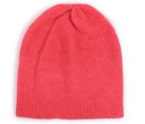Beanie-Mütze im Woll-Alpaka-Mix Lipstick Pink