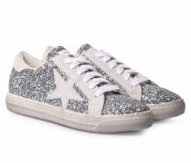 Sneakers Alaska Bianco Glitter Silber