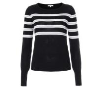 Wollpullover gestreift Black/White