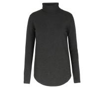 Rollkragen-langarmshirt Aus Viscose-stretch Anthra