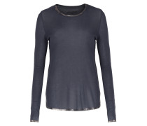 Langarmshirt Mit Metallic-finish