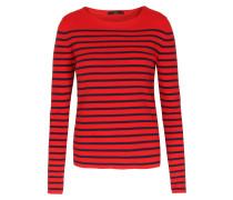 Baumwoll-pullover Mit Streifen Rot/navy