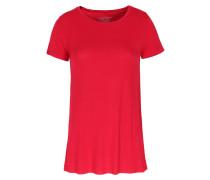 Viskose-Basic-Shirt Dunkelrot
