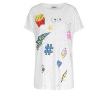 Shirt Im Vintage-look Mit Motiv-print Offwhite