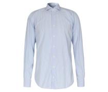Gestreiftes Baumwoll-hemd Davis Blau/weiß