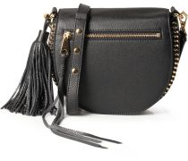 Ledertasche Astor Saddle Bag Black Gold