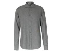 Flanellhemd mit Hahnentritt-Muster Gray