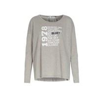 Oversize-langarmshirt Mit Print