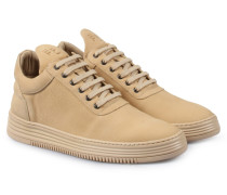 Sneakers Low Top All Leather Beige