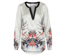 Seiden-stretch-bluse Amalie Mit Floralem Print