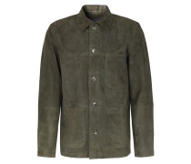 Worker Jacket Aus Veloursleder Khaki
