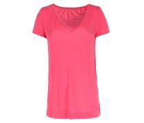 Shirt Mit V-ausschnitt Pink