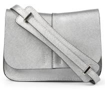Crossbody-bag Aus Metallic-leder Silber