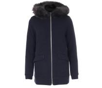 Strickhoodie Wool Cotton Jacket mit Fell Navy