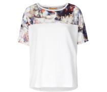 BOSS ORANGE Print-shirt Im Material-mix Tamodern Offwhite Bunt Damen Farbe: offwhite/bunt