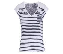 Gestreiftes Baumwoll-shirt Mit Brusttasche