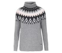 Rollkragenpullover Womens Wool Cashmere Norweger-Muster