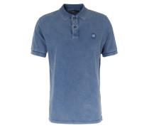 Poloshirt Regular Fit Mittelblau