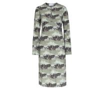 Kleid Etta mit Safari-Print Oliv