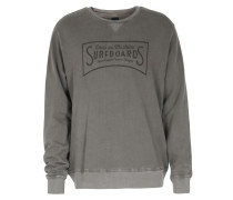 Vintage Garment Dye Baumwoll-sweatshirt Washed Grey