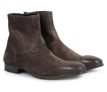 Veloursleder-Boots Mauricio im Vintage-Look Lavagna