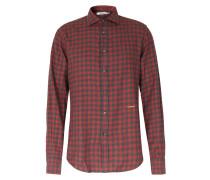Kariertes Flanellhemd aus Baumwolle Red/Grey