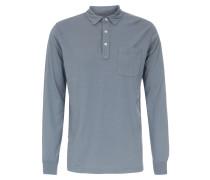 Polo-Long Sleeve in Blaugrau