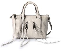 Ledertasche Distressed Micro Cemento