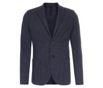 Tweed-Sakko mit Schurwolle Regular-Fit Dark Blue